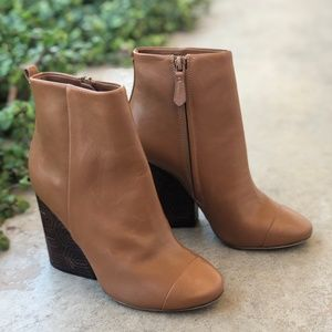 Tory Burch Grove Royal Calf Brown Leather Boots